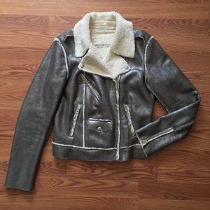 Ralph Lauren D&S • Metallic Sherpa Bomber Jacket